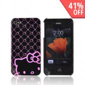 Original Hello Kitty AT&amp;T/ Verizon iPhone 4 Hard Back Cover Case w/ Screen Protector, HKT4488NK4 - Pink/Black