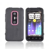 Original Otterbox HTC EVO 3D Impact Series Silicone Case w/ Screen Protector, HTC1-EVO3D-20-E4OTR - Black
