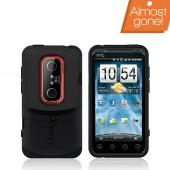 Original Otterbox HTC EVO 3D Commuter Series Hard Case on Silicone w/ Screen Protector, HTC4-EVO3D-20-E4OTR - Black