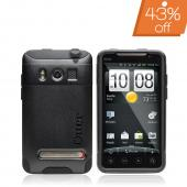 Original Otterbox HTC EVO 4G Hybrid Commuter Series Case w/ Screen Protector, HTC4-EVO4G-20-C - Black