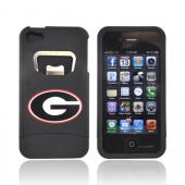 AT&T/ Verizon Apple iPhone 4, iPhone 4S Rubberized Bottle Opener Hard Case - Georgia Bulldogs on Black