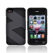 Original iLuv Apple iPhone 4 Dual Layer Fusion Silicone Case, ICC728BLK - Black