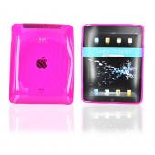 Original iLuv Apple iPad (1st Gen) 1st Flexi-Clear Case w/ Dot Wave, ICC802PNK - Transparent Hot Pink
