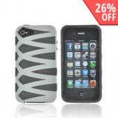 AT&amp;T/ Verizon Apple iPhone 4, iPhone 4S Fusion Candy Case - Gray/ Black