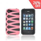 AT&amp;T/ Verizon Apple iPhone 4, iPhone 4S Fusion Candy Case - Pink/ Black