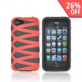 AT&amp;T/ Verizon Apple iPhone 4, iPhone 4S Fusion Candy Case - Red/ Black