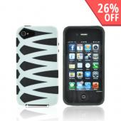 AT&amp;T/ Verizon Apple iPhone 4, iPhone 4S Fusion Candy Case - White/ Black