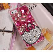 Hello Kitty w/ Light Pink Jewels Clear Hard Case for Apple iPhone 5