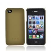 Original Incipio Apple iPhone 4S, AT&T/Verizon iPhone 4 Rubberized Ultra Thin Feather Back Cover Case w/ 2 Screen Protectors, IPH-515 - Olive Green
