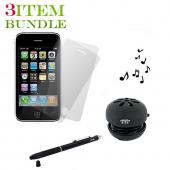 Apple iPhone 3G 3Gs Combo Package w/ Portable Speaker, Screen Protector and Stylus