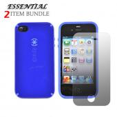 Apple iPhone 4 Combo w/ Speck CandyShell Case &amp; Premium Screen Protector - Blue