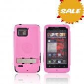 Original Trident Kraken Motorola Droid Bionic Hard Case Over Silicone w/ Screen Protector, Kickstand, &amp; Belt-Clip, KKN2-BIO-PK - Pink/ Black