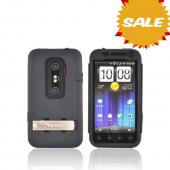 Original Trident Kraken AMS HTC EVO 3D Hard Case Over Silicone w/ Screen Protector, Kickstand, & Belt-Clip, KKN2-EVO-3D-BK - Black