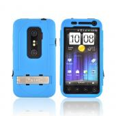 Original Trident Kraken AMS HTC EVO 3D Hard Case Over Silicone w/ Screen Protector, Kickstand, & Belt-Clip, KKN2-EVO-3D-BL - Blue/ Black