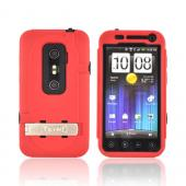 Original Trident Kraken AMS HTC EVO 3D Hard Case Over Silicone w/ Screen Protector, Kickstand, &amp; Belt-Clip, KKN2-EVO-3D-RD - Red/ Black