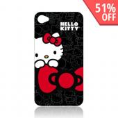 Original Hello Kitty AT&amp;T Apple iPhone 4 Hard Back Cover Case, KT4488B4 - Hello Kitty on Black