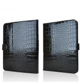 "Black Faux Crocodile Skin Leather Case Stand for Universal Tablets 9""-10"" (Like iPad Air, Nexus 10, & Samsung Galaxy Tab 3 10.1)"