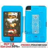 Apple iPod Touch Metal Armor Case - Teal Blue