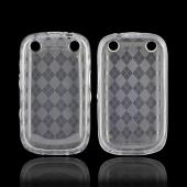 BlackBerry Curve 9310/9320 Crystal Silicone Case - Argyle Clear
