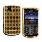 Blackberry Bold 9650 & Tour 9630 Crystal Silicone Case - Orange Argyle Diamonds