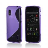 Purple S Design Crystal Silicone Case for LG Google Nexus 4