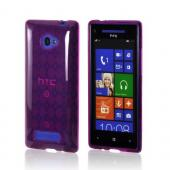 Purple Argyle Crystal Silicone Case for HTC 8X