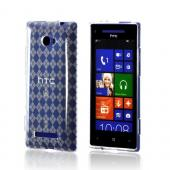 Clear Argyle Crystal Silicone Case for HTC 8X