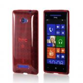 Red Argyle Crystal Silicone Case for HTC 8X