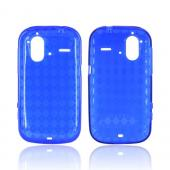 HTC Amaze 4G Crystal Silicone Case - Argyle Blue