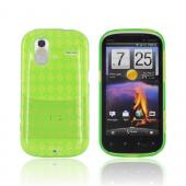 HTC Amaze 4G Crystal Silicone Case - Argyle Neon Green
