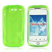 Google Nexus One Crystal Silicone Case - Transparent Green