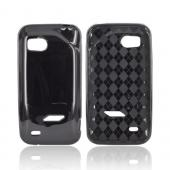 HTC Rezound Crystal Silicone Case - Black (Argyle Interior)