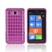 HTC Titan Crystal Silicone Case - Argyle Hot Pink