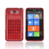 HTC Titan Crystal Silicone Case - Argyle Red