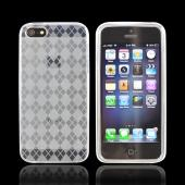 Apple iPhone 5 Crystal Silicone Case - Argyle Clear