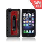 Apple iPhone 5 Crystal Silicone Case - Black Cassette