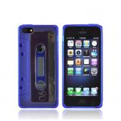 Apple iPhone 5 Crystal Silicone Case - Blue Cassette