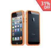 Apple iPhone 5 Crystal Silicone Bumper - Orange/ Clear