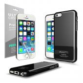 Manufacturers Black Anti-Slip TPU Crystal Silicone Skin Case & Free Screen Protector for Apple iPhone 5C - XXIP5C Skins
