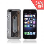 Apple iPhone 5 Crystal Silicone Case - Clear Cassette