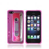 Apple iPhone 5 Crystal Silicone Case - Hot Pink Cassette