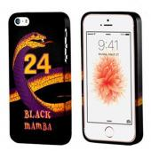 Black Mamba Purple/ Gold Snake on Black Crystal Silicone Case for Apple iPhone 5