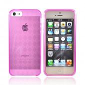 Apple iPhone 5 Crystal Silicone Case - Transparent Pink
