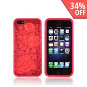 Apple iPhone 5 Crystal Silicone Case - Red Roses