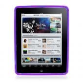 Apple iPad (1st Gen) 1st Crystal Silicone Case, Rubber Skin - Purple