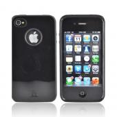 AT&T/ Verizon Apple iPhone 4, iPhone 4S Crystal Silicone Case w/ Dust Protection - Black