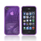 Luxmo Apple iPhone 4 Crystal Silicone Case - Purple
