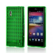 Green Argyle Crystal Silicone Case for LG Optimus G (AT&T)