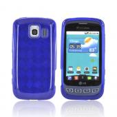 LG Optimus S LS670 Crystal Silicone Case - Blue Argyle