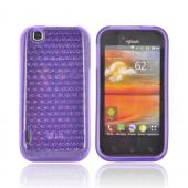 LG MyTouch Crystal Silicone Case - Hexagonal Purple